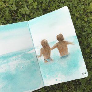 Пара в море